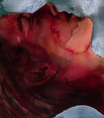 On Paper Painting - Sleeper Head by Graham Dean