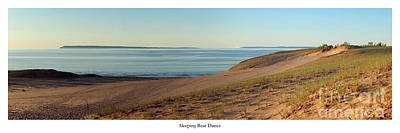 Sleeping Bear Dunes And South Manitou Print by Twenty Two North Photography