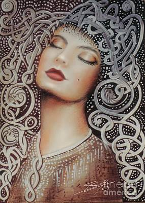 Woman Painting - Sleeping Beauty by Susi Galloway