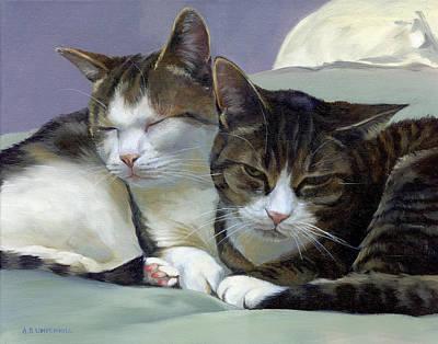 Sleeping Buddies Original by Alecia Underhill
