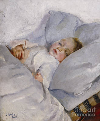 Innocence Painting - Sleeping Child by Christian Krohg