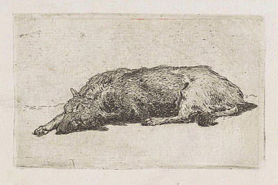 Sleeping Dog, Jan Weissenbruch Print by Artokoloro