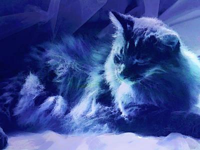 Pets Art Digital Art - Sleeping In The Sun by Ann Powell