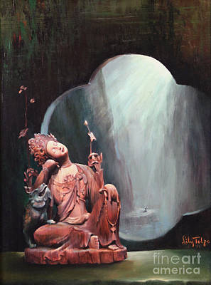 Collectible Painting - Sleeping Kuan Yin by Art By Tolpo Collection