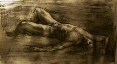 Sleeping Man Print by Derek Van Derven