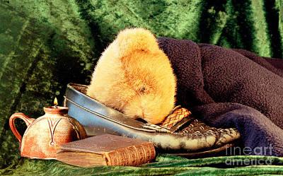 Teddybear Photograph - Sleeping Teddy by Louise Heusinkveld