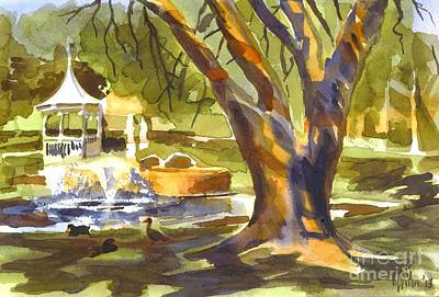 Gazebo Painting - Sleepy Summers Morning by Kip DeVore