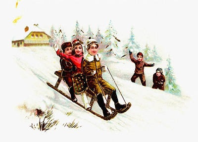 Christmas Cards Digital Art - Sleigh Ride by Unknown