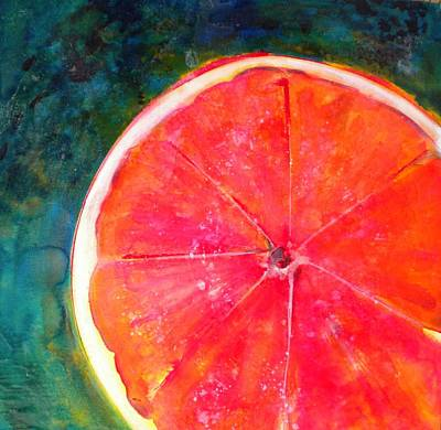 Grapefruit Mixed Media - Slice Of Texas by Debi Starr