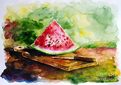 Sliced Watermelon Original by Zaira Dzhaubaeva