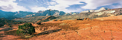 Slickrock Photograph - Slickrock, Snow Canyon State Park by Panoramic Images