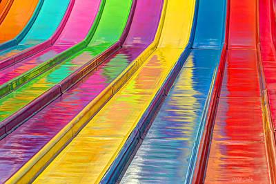 Sliding Into Summer Fun Print by Heidi Smith