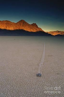 Sliding Rock On Racetrack Playa Print by George Ranalli