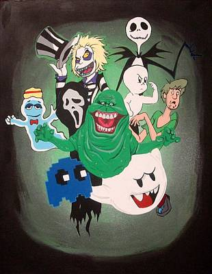 Ghost Busters Painting - Slimer And The Gang by Kyle Willis