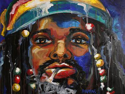 Jamaican Art Painting - Slo Jammin' by Julia Pappas