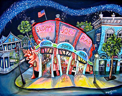 Gecko Painting - Sloppy Joe's Conch Bar by Abigail White