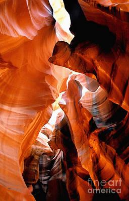 Slot Canyon Abstract 6 Print by Linda  Parker