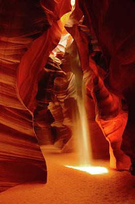 Slot Canyon, Upper Antelope Canyon Print by Michel Hersen