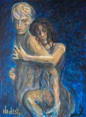 Tango Painting - Slow Dancing Vi by Nik Helbig