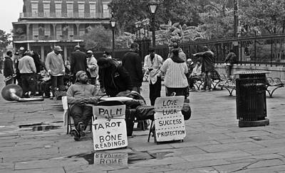 Slow Day On Jackson Square In New Orleans Print by Louis Maistros