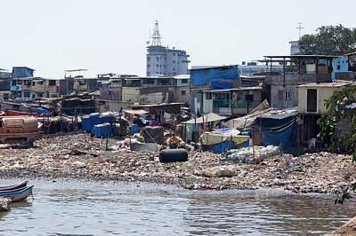 Slums Photograph - Slum In Colaba by Mark Williamson