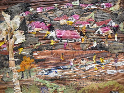 Slum On Hill  Print by Basant Soni