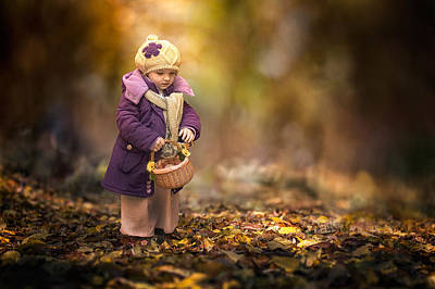Small Autumn Fairy Print by Stanislav Hricko
