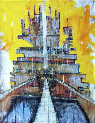 Babel Painting - Small Bits Of The Universe Making Sense At Random Moments In Time by Mark M  Mellon