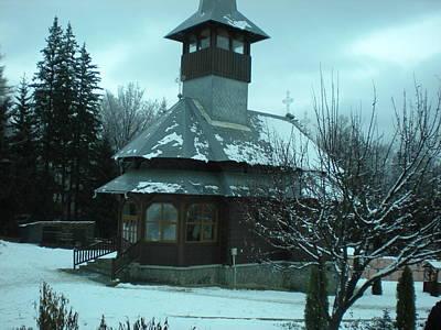 Small Church Romania Print by Andreea Alecu