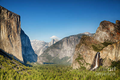 El Capitan Photograph - Small Clouds Over The Half Dome by Jane Rix