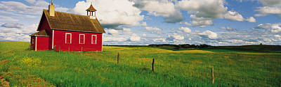 One Room School Photograph - Small Red Schoolhouse, Battle Lake by Panoramic Images