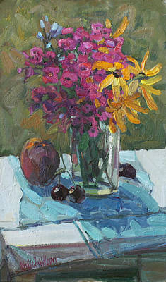 Phlox Painting - Small Still Life by Juliya Zhukova