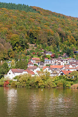 Small Town On The Neckar River, Germany Print by Michael Defreitas