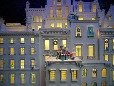 Miniature Nyc Photograph - Small World - Tiffany Christmas 1 by Richard Reeve