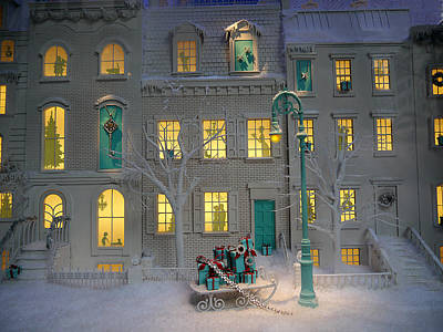 Miniature Nyc Photograph - Small World - Tiffany Christmas 2 by Richard Reeve