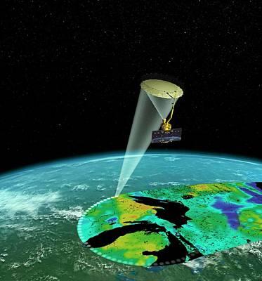 Microscopic Photograph - Smap Satellite by Nasa/jpl-caltech