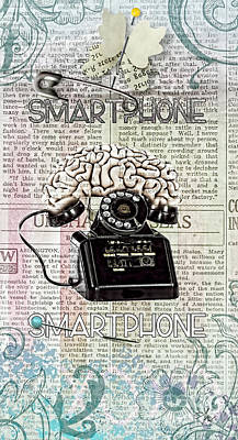 Smart Mixed Media - Smartphone by Mo T