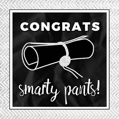 Congratulations Painting - Smarty Pants Silver by Aubree Perrenoud