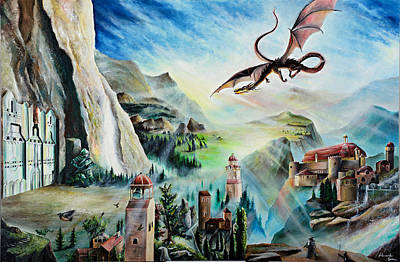 Tolkien Painting - Smaug Prelude by Alessandro Serra