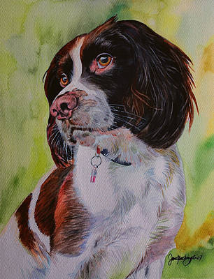 Soulful Eyes Painting - Smelling You From Miles Away by Janet Pancho Gupta