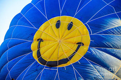 Smiley Balloon Print by Robert Bales