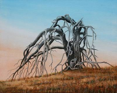 Painting - Smiley Canyon Tree by J W Kelly