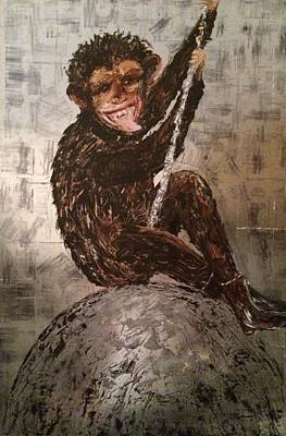 Smiley On A Wrecking Ball Original by Helen Wendle