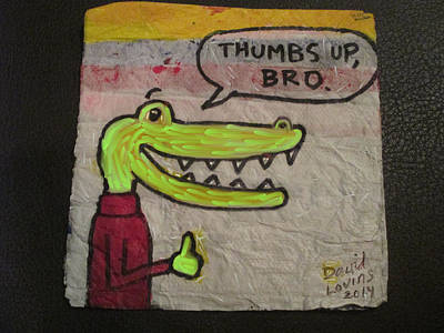 Crocodile Mixed Media - Smiling Croc Variation by David Lovins