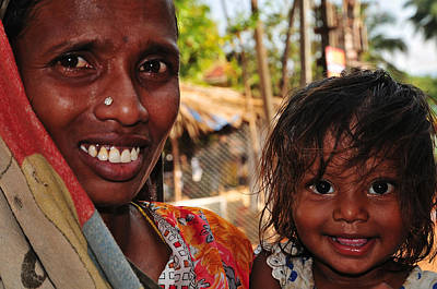 Smiling Eyes. India Print by Jenny Rainbow