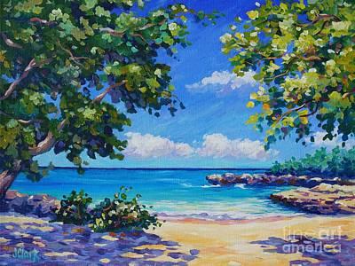 Bahamas Landscape Painting - Smith Barcadere by John Clark