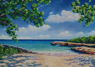 Seven Mile Beach Painting - Smith Cove 16x23 by John Clark