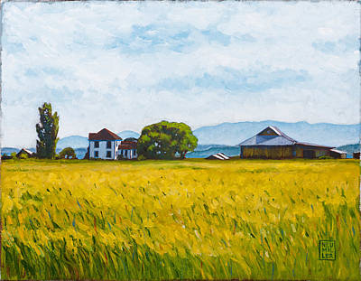 Farm House Painting - Smith Farm by Stacey Neumiller
