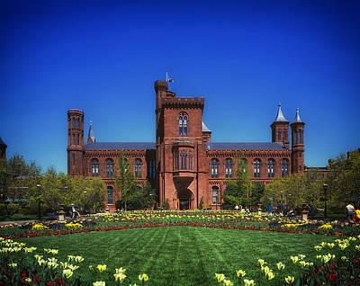 Landscaped Grounds Photograph - Smithsonian Castle - Washington D C by Mountain Dreams