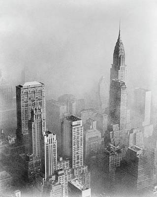 Empire State Photograph - Smog And New York Skyscrapers by Library Of Congress